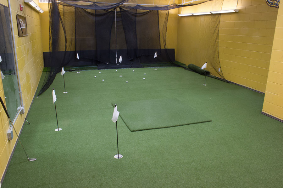 Commercial training indoor putting green in Villanova, PA