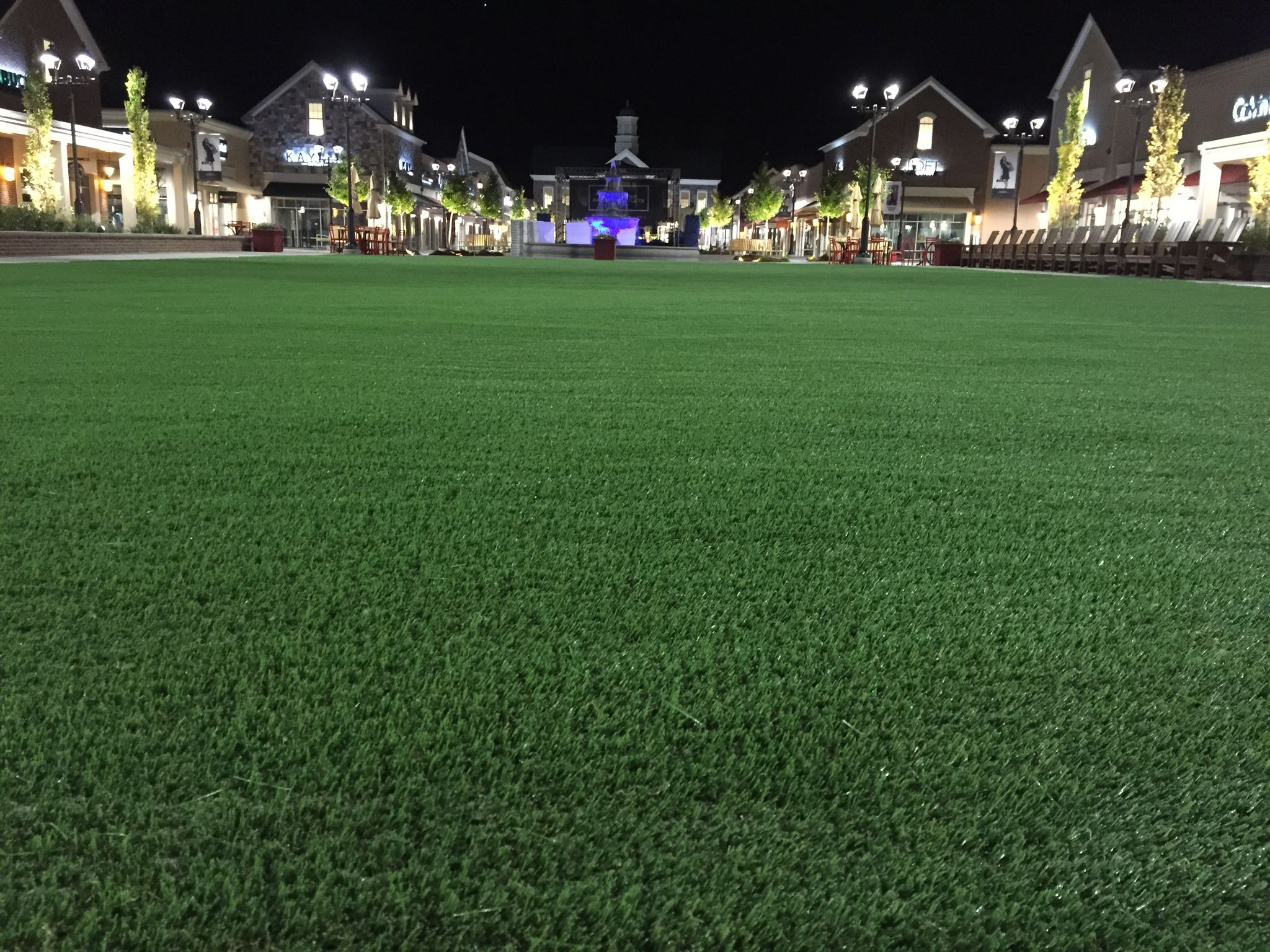 shopping center artificial turf